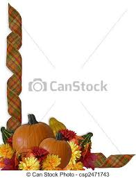 drawings of thanksgiving border autumn fall ribbons image and