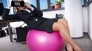 Bounce Ball Chair Sitting On An Exercise Ball At Work Yields No Results Other Than