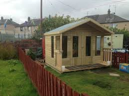 winter promotion sheds summerhouses playhouses tub huts man