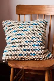 earthbound home decor multi blue nubs pillow earthbound trading company the nomadic