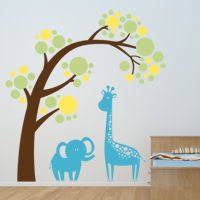 Animal Wall Decals For Nursery Nursery Rooms Wall Decals
