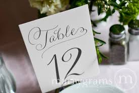 wedding table numbers numerical wedding table numbers signs thin style
