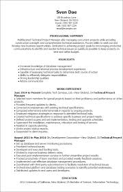 Best Project Management Resume by Bold Idea Technical Project Manager Resume 4 Best Technical