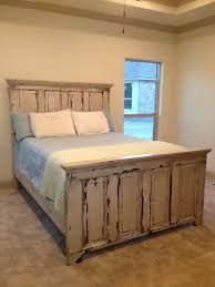 How To Make Your Own Headboard And Footboard Distressed Headboard And Footboard Made From Two Old Doors For