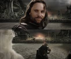 Aragorn Meme - aragorn black gate for frodo blank template imgflip