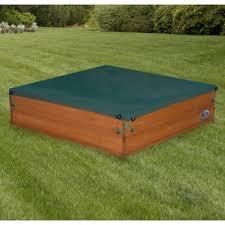 Badger Basket Covered Convertible Cedar Sandbox With Two Bench Seats Sandboxes U0026 Water Tables You U0027ll Love Wayfair