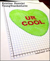 these valentine themed coordinate graphing mystery pictures are