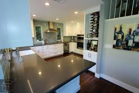 Kitchen Remodel White Cabinets Transitional Style Gray U0026 White G Shaped Kitchen Remodel With