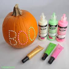 Glow In The Dark Halloween Window Decorations by Glow In The Dark Puffy Paint Polka Dot Pumpkin Club Chica Circle