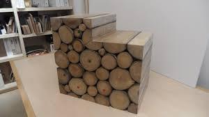 deco bois brut habillage bois rondelles de frêne décoration maison
