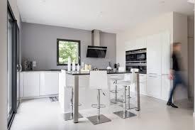 ilot cuisine blanc surprenant ilot cuisine blanc charmant cuisine blanc laque avec ilot