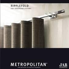 Ripplefold Draperies New Ripplefold Track From Jab
