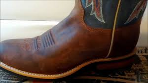 justin boots mens cognac pullup br360 youtube