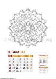 flower mandala october calendar coloring pages u2013 getcoloringpages org