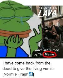 Meme Trash - floor is lava don t get burned by this meme meme on me me