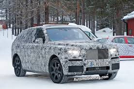 rolls royce suv upcoming rolls royce cullinan suv spied winter testing