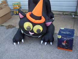 halloween yard decorations 6 u0027 airblown inflatable animated moving cat halloween yard