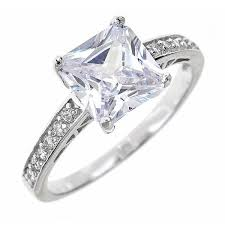 silver diamond rings engagement rings diamond wedding ring jewelry