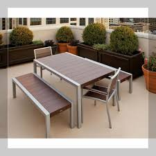 Tile Top Patio Table Bench Patio Table With Pit Plans Outdoor Patio Table With