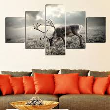 aliexpress com buy deer paintings for living room wall animal