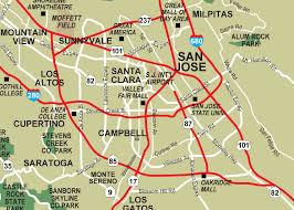 san jose light rail map san jose mapsof net