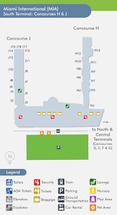 miami airport terminal map miami international airport