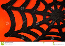 orange and black halloween background black spider web on an orange background royalty free stock photos