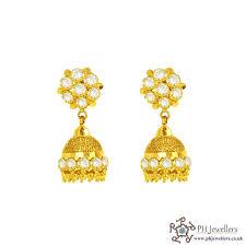jhumka earrings uk online gold jewellery gold jewellery 22ct 916