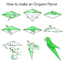 Step By Step Origami For - steps how to make a origami parrot wedding decor style