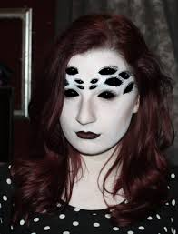 half face painted halloween