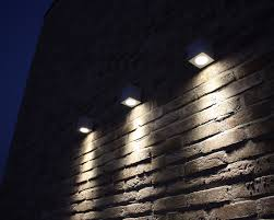 outdoor wall mounted led lighting for red exposed brick wall ideas