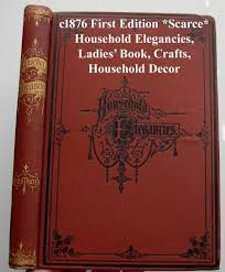 Home Decor Sewing Projects by Household Elegancies Antique Book Home Decor Sewing Needlework