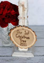 our first christmas tree ornament cut off the bottom of your own