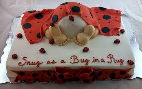 ladybug baby shower sugar spice ladybug baby rump cake