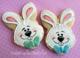 Easter Bunny Cookies with Cookies with Character Guest Post