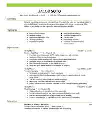 excellent writing skills resume marketing resume examples marketing sample resumes livecareer media planner resume example