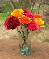 paper flower bouquet large and small paper mums perfect for