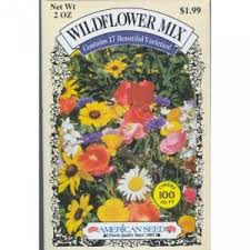 wildflower seed packets american seed wildflower mix 17 varieties 100 sf