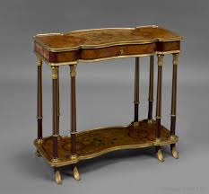 an unusual transitional style gilt bronze mounted low side table