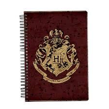 harry potter hogwarts house crest 1 notebook licensed by