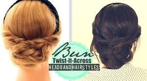 cute headband hairstyles 2 everyday bun twisted updo for