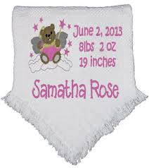 Baptism Blanket Personalized Personalized Baptism Blanket Personalized Baby Blanket Throw