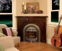 simple wood and gas burning fireplace interior decorating ideas