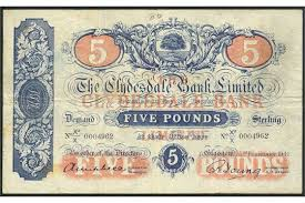 banknote yearbook clydesdale bank limited 5 3 1934 serial number v2 e 0002128