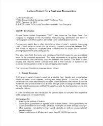 Letter Of Credit In Australia business letter of intent letter of intent for business transaction