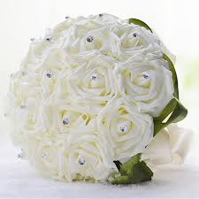 aliexpress com buy white rose folowers diy wedding bride