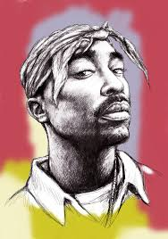 tupac shakur morden art drawing portrait poster painting by kim wang