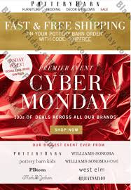 Pottery Barn Free Shipping Codes Pottery Barn Cyber Monday 2017 Sale U0026 Deals Black Friday 2017