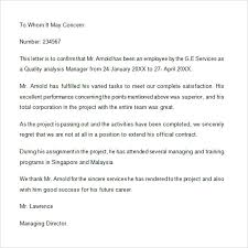 Certification Letter Sle Employment Certification Letter Template Employment 28 Images 9 Simple