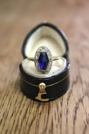 antique rings sapphire images French art deco antique sapphire diamond plaque ring gatsby era jpg